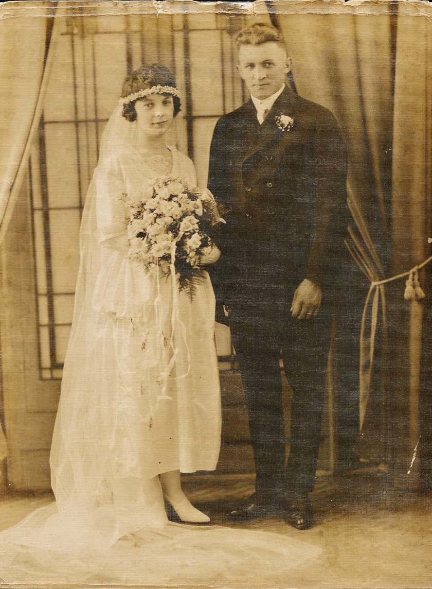 Clara and Mathias Stephanz Wedding Pic Aug. 18, 1920