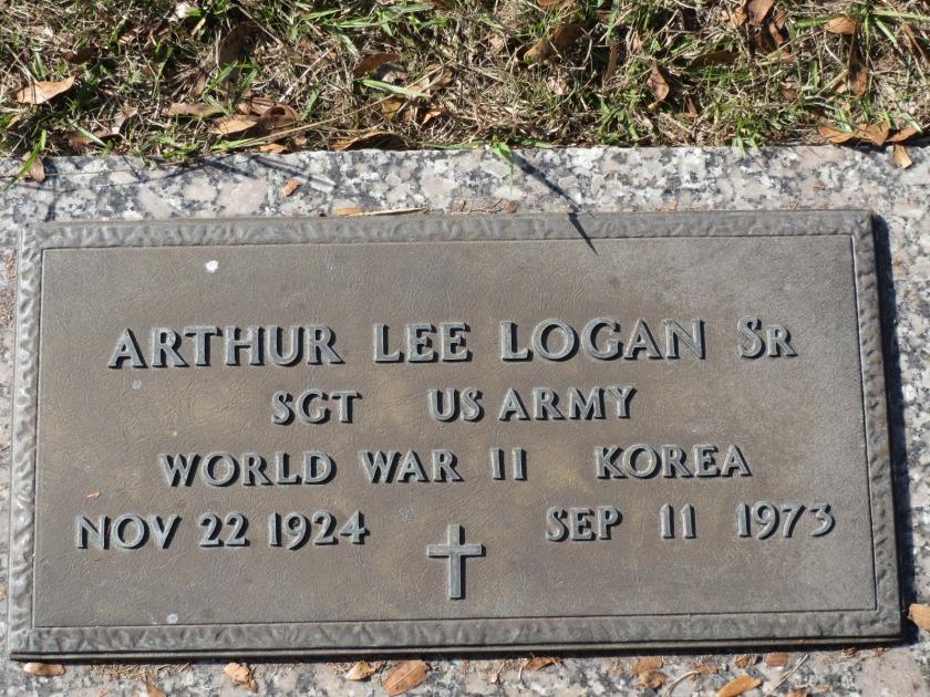 Arthur Logan Sr. Headstone