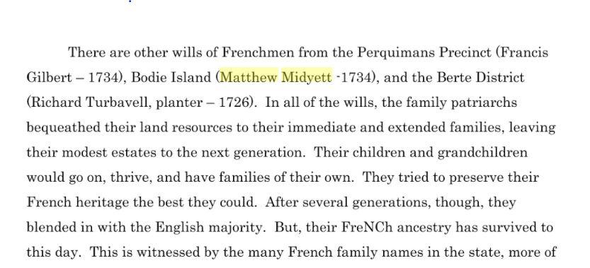 French Heritage of North Carolina-Matthew Midyett