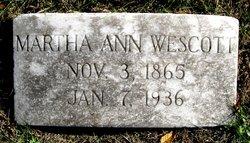 Martha Ann Chadwick headstone