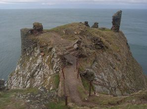 Remnants of Fast Castle. Fast castle was owned by Sir Robert Logan circa 1600.