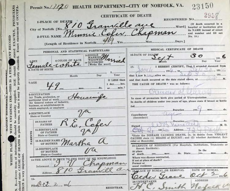 Miriam Baylor Cofer Death Certificate.jpg