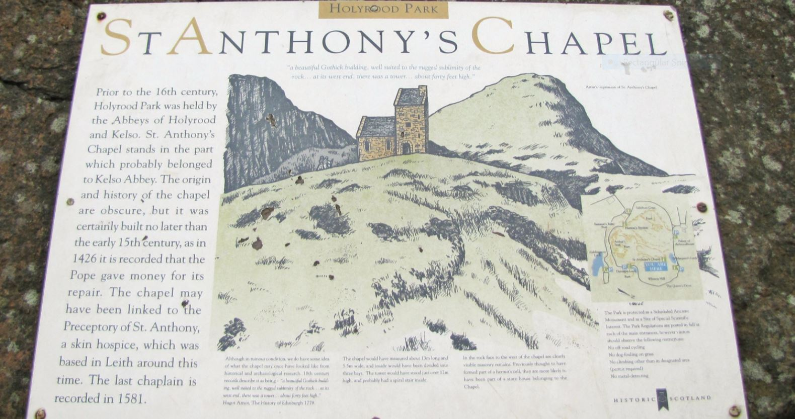 St. Anthony's Chapel Plaque