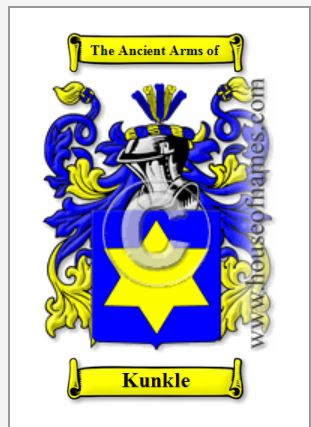 Kunkle Coat of Arms