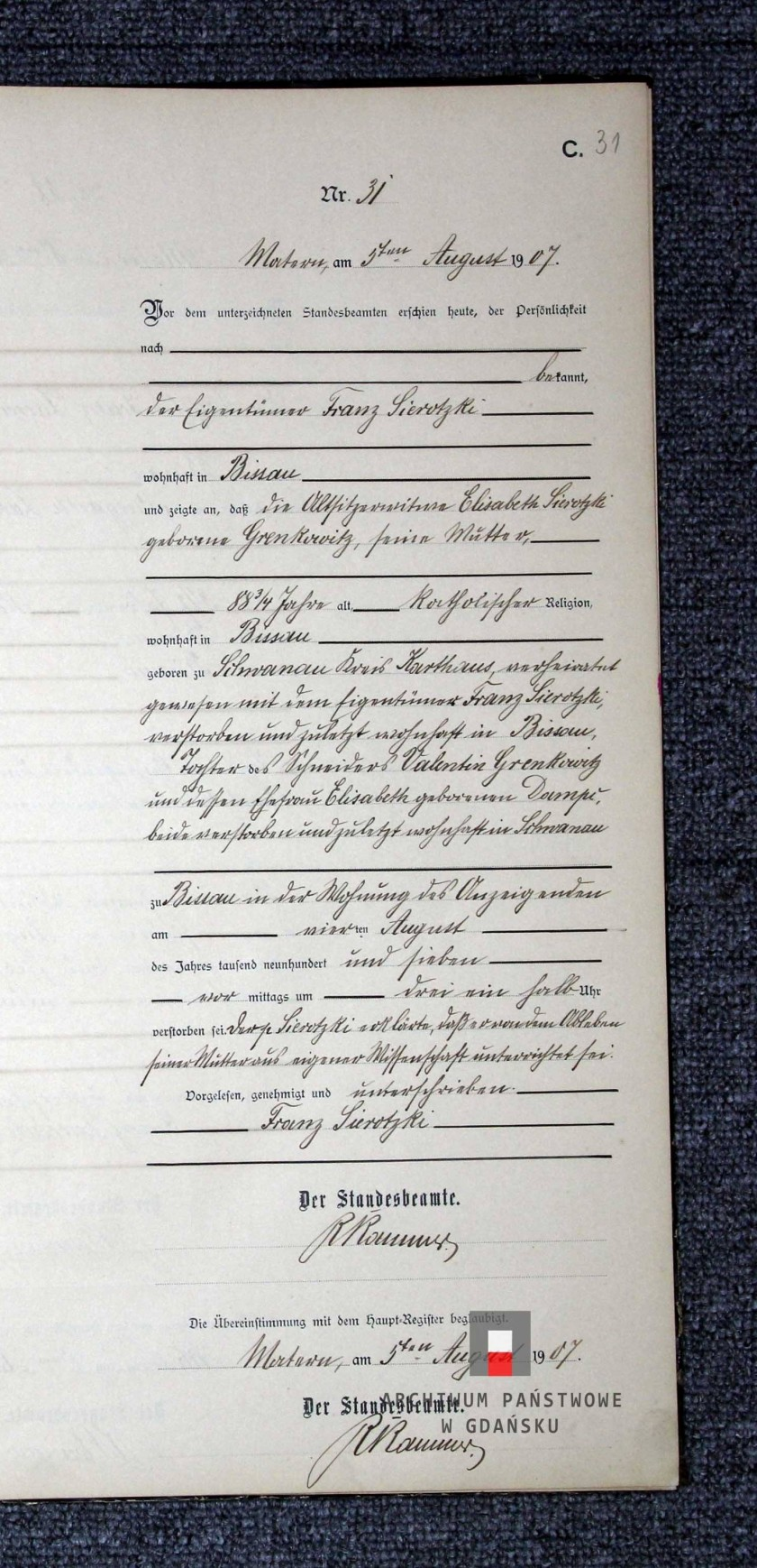 Elisabeth Sierotzki Death Record.jpg