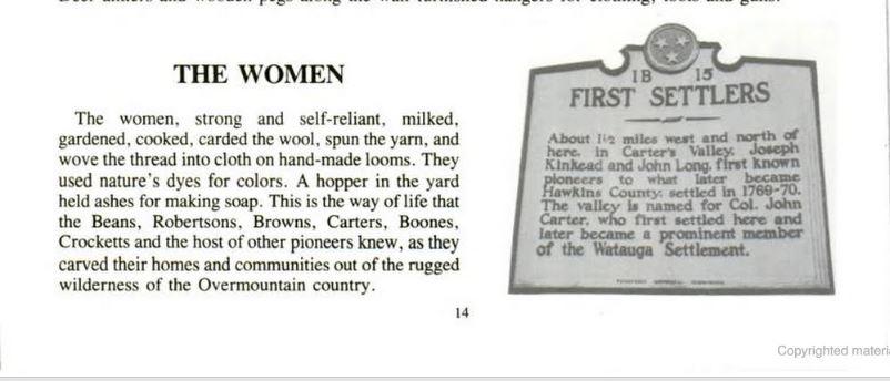 Woman Settlers